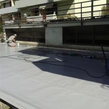 Rifacimento terrazzo di copertura pedonabile e pavimento galleggiante con manti sintetici pvc img_2