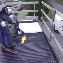 Posa barriera vapore e pannello isolante pendenzato img_5