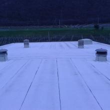 Posa manto impermeabile a vista per coperture destinate ad impianto fotovoltaico membrana bituminosa img_9