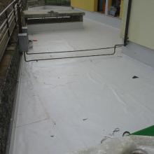 Rifacimento terrazzo di copertura a verde con manti sintetici pvc img_5