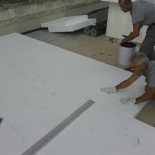 Rifacimento terrazzo di copertura con posa di pannello isolante pendenzato con manti sintetici pvc img_7