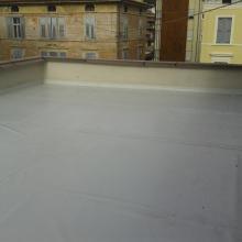 Rifacimento terrazzo di copertura con posa di pannello isolante pendenzato con manti sintetici img_9